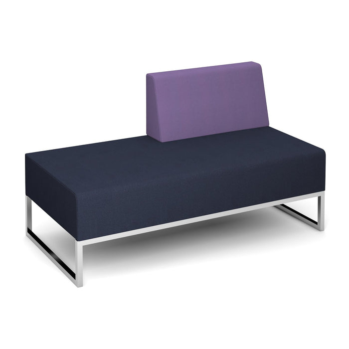 Nera Modular Soft Seating Double Bench Left Back