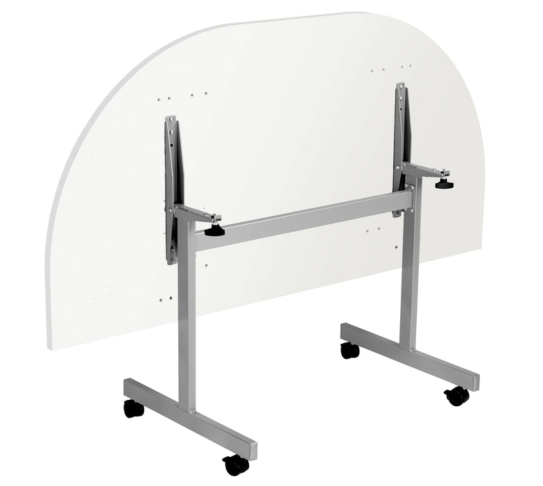 One Tilting Meeting Table D-End
