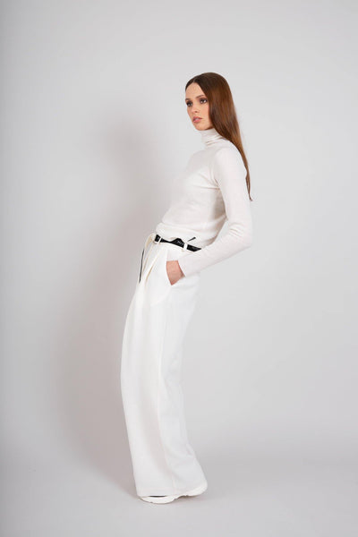 Buy online sustainable Trousers from Finland - MIAM Stroller Trousers White