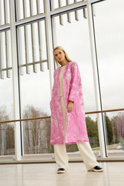 MIAM Forest Linen Coat Pink