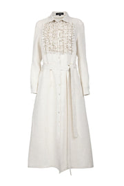 MIAM Linen Ruffle Dress