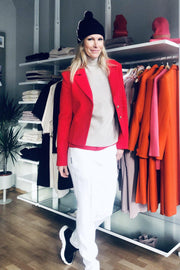 Buy online sustainable Blazers from Finland - MIAM Biker Blazer Red