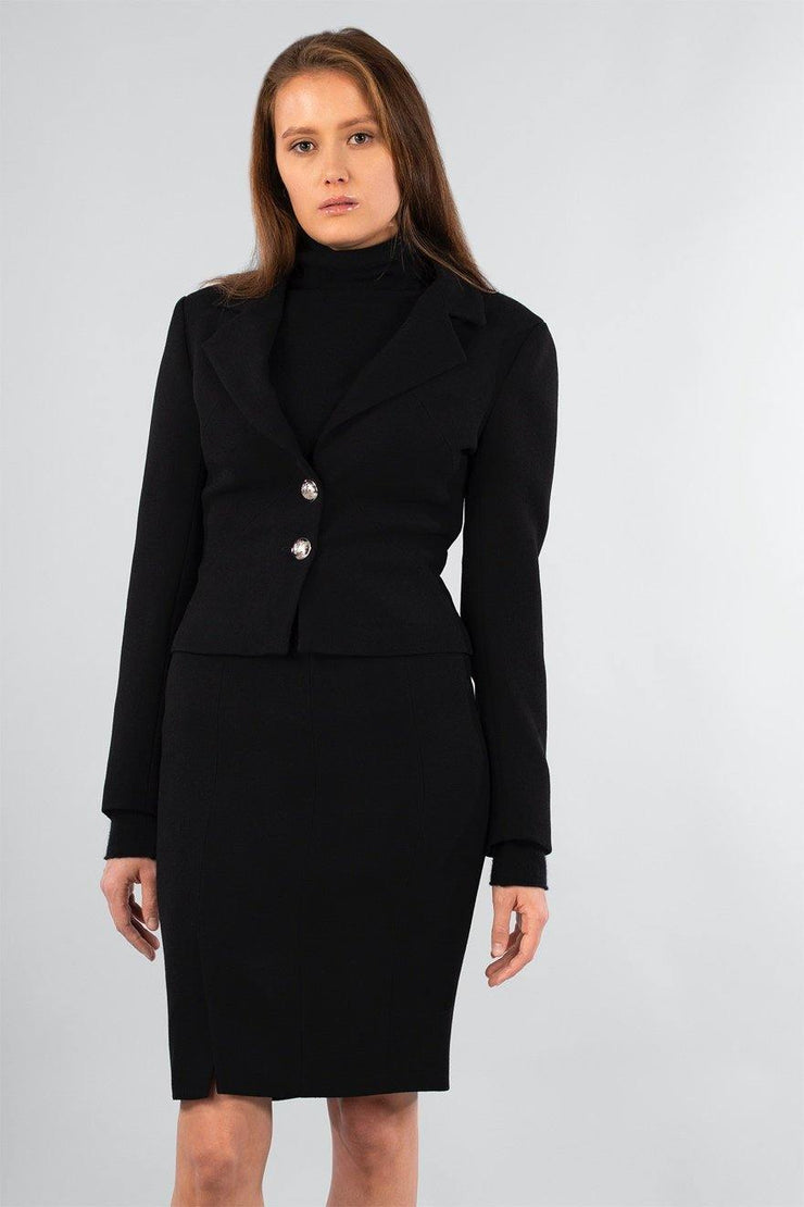 Buy online sustainable Blazers from Finland - MIAM Biker Blazer Black