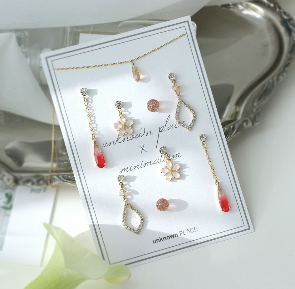 unknown PLACE Grapefruit Earring Set