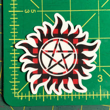 Load image into Gallery viewer, Supernatural Plaid Anti-Possession Sticker