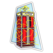 Load image into Gallery viewer, Bill and Ted's Phone Booth Sticker