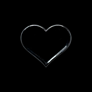 Tiny Black Heart Pin