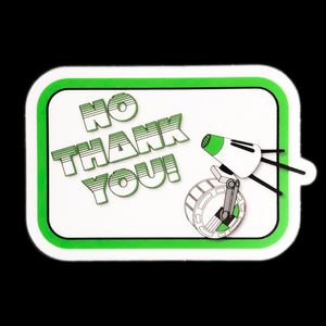 D-O No Thank You Sticker