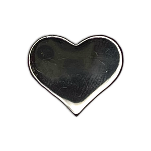 Shiny Gunmetal Heart Pin