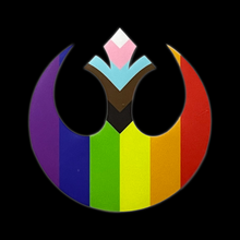 Load image into Gallery viewer, Rebel Alliance Pride Flag Sticker