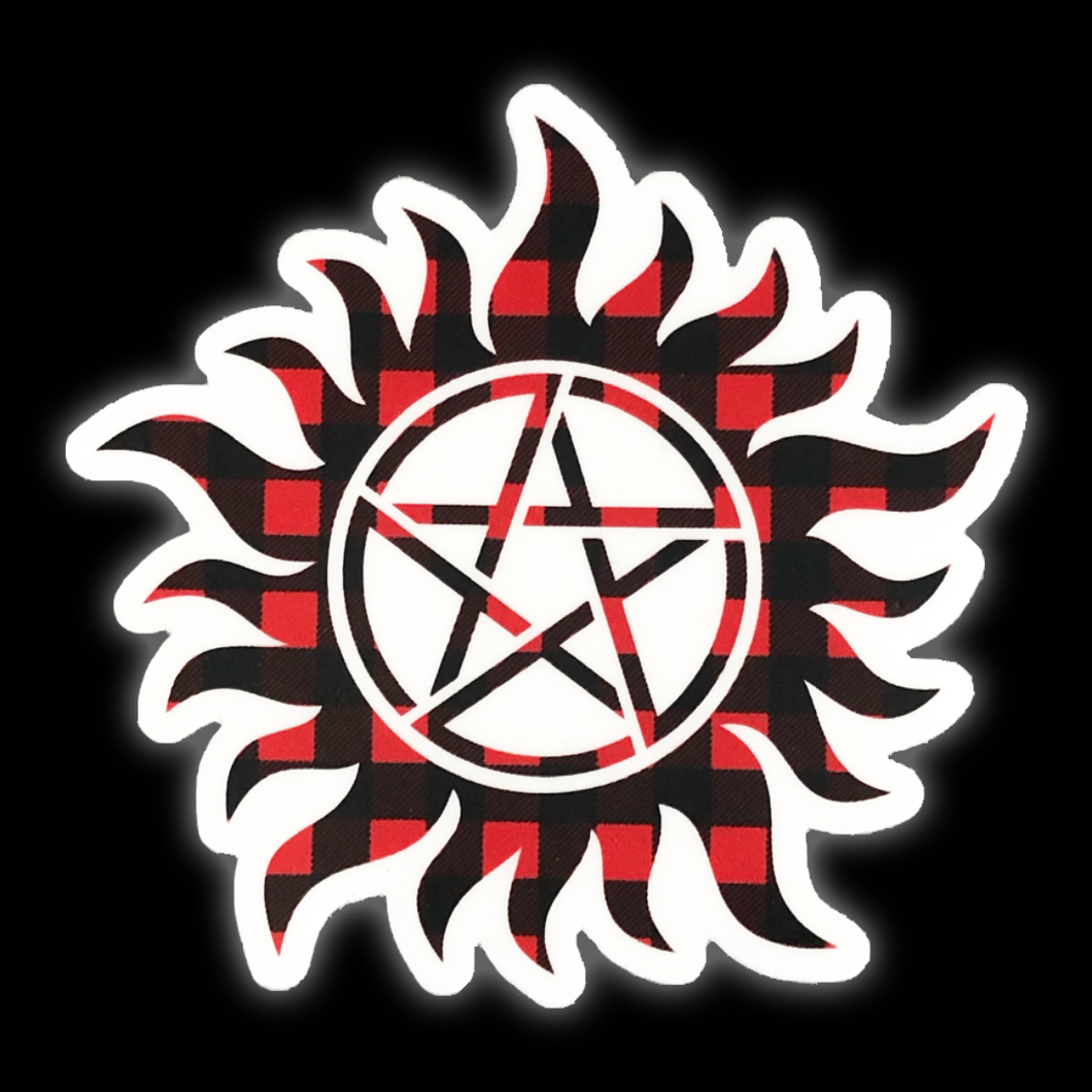 Supernatural Plaid Anti-Possession Sticker