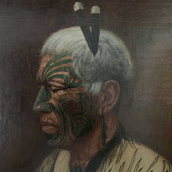 Load image into Gallery viewer, Te Mutu Haranui, Te Arawa Chief (Lost in Thought, an Arawa Chieftain