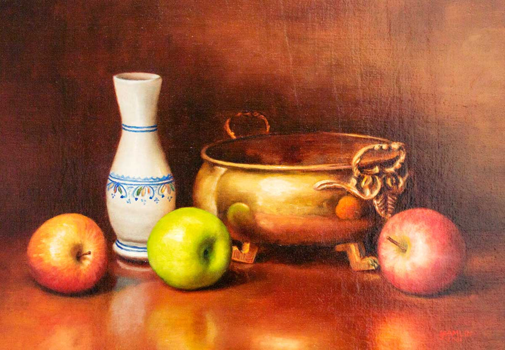 DETAIL: Ian Hamlin - Apples, Bowl & Vase I