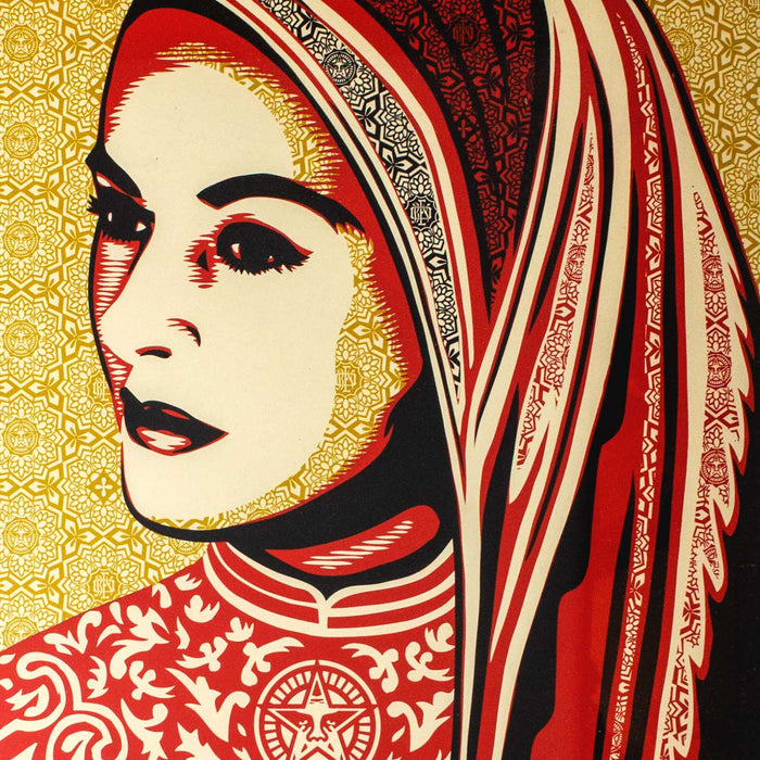 DETAIL: Shepard Fairey - Peace Woman