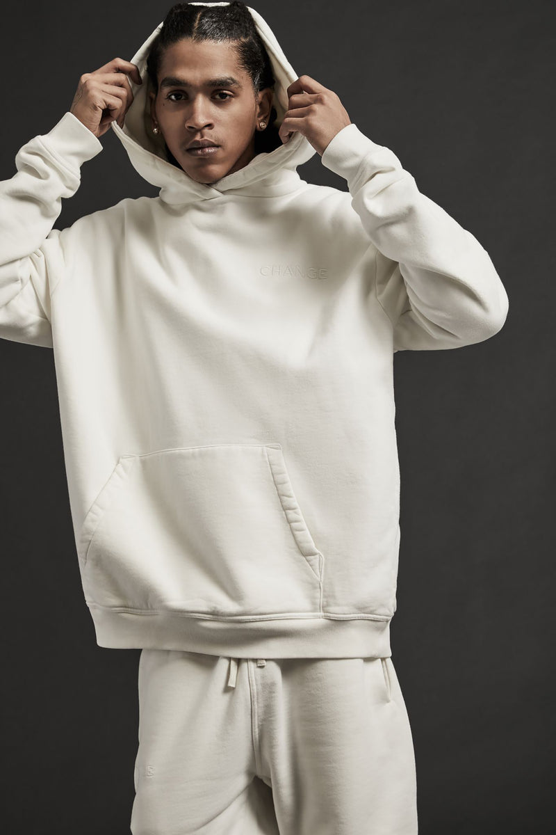 LIFE LINE PULLOVER HOODIE - VINTAGE WHITE