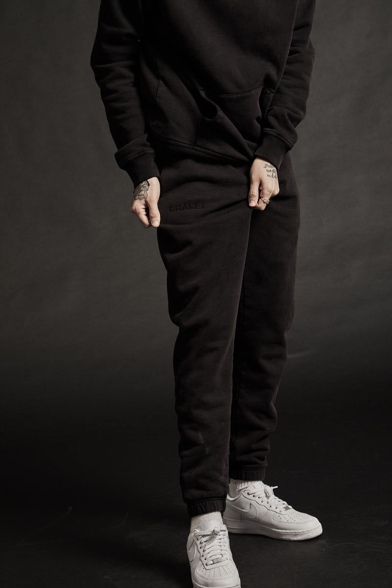 LIFE LINE SWEATPANTS - VINTAGE BLACK