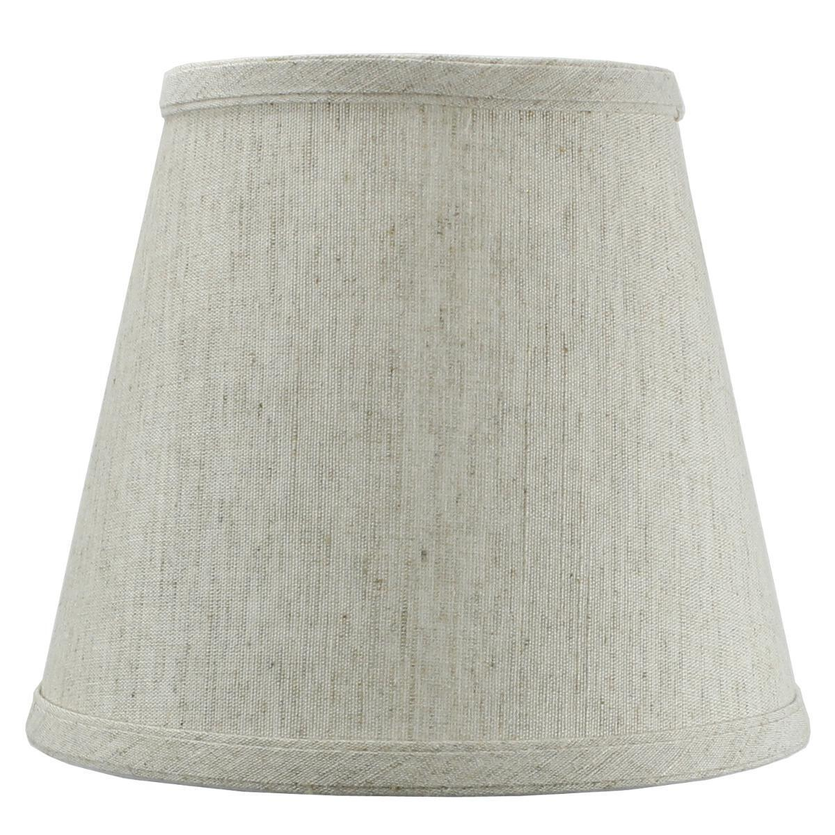 5x8x7 Textured Oatmeal Hard Back Lampshade Edison Clip On