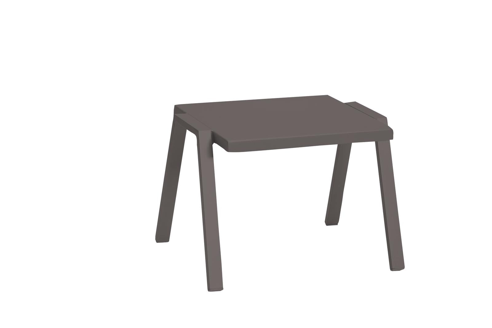 "22"" X 18"" X 16"" Taupe Aluminum Side Table"