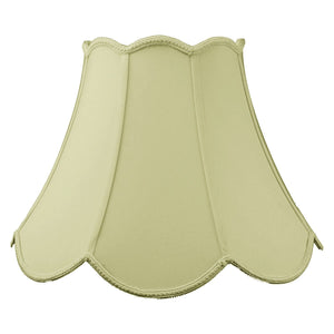 9x18x13 Scalloped Bell Lamp Shade Eggshell