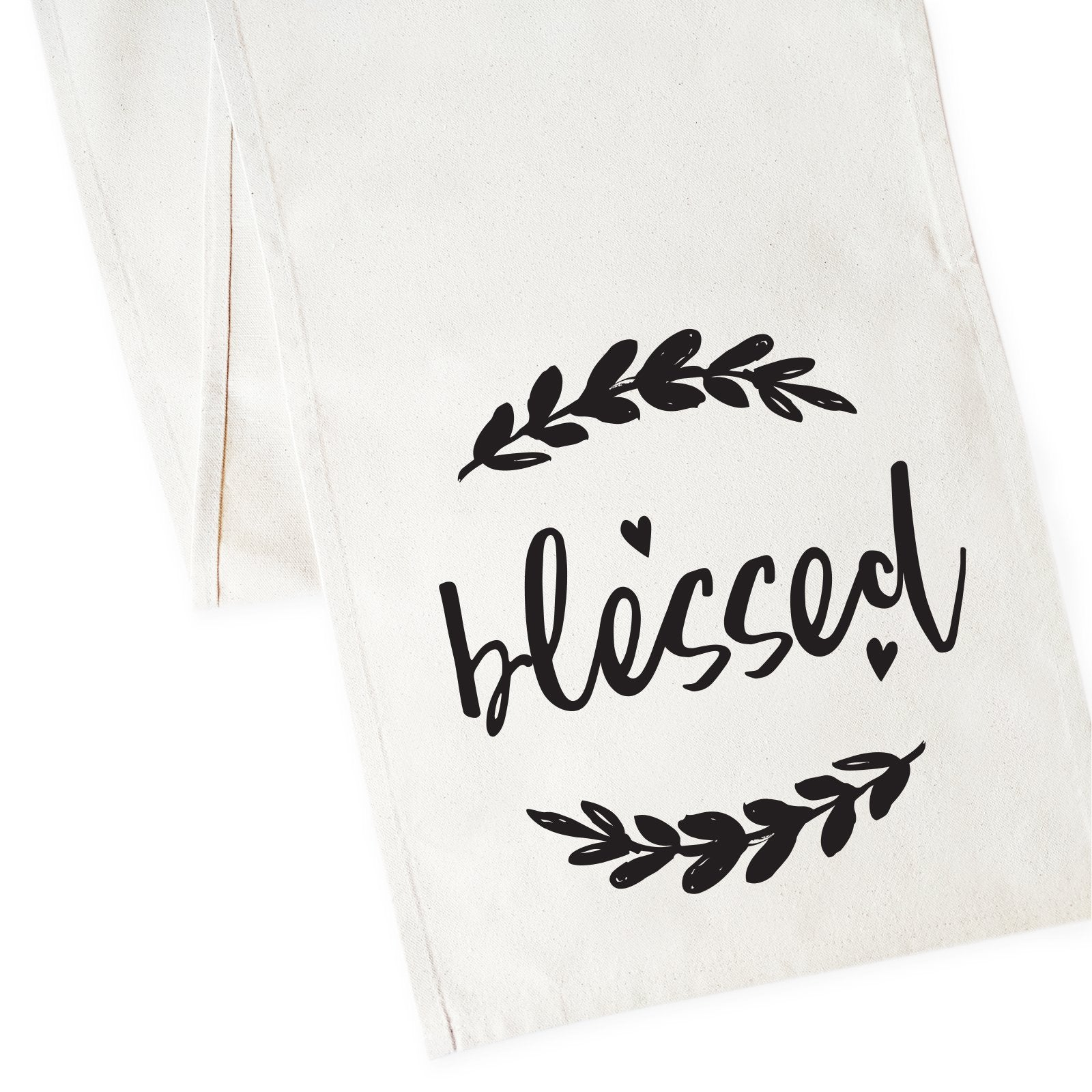 Blessed Cotton Canvas Table Runner