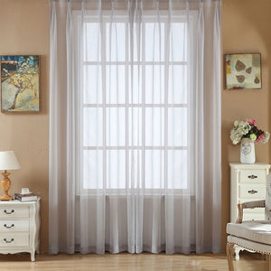 DIDIHOU Solid Color Yarn Curtain Window Pure Color