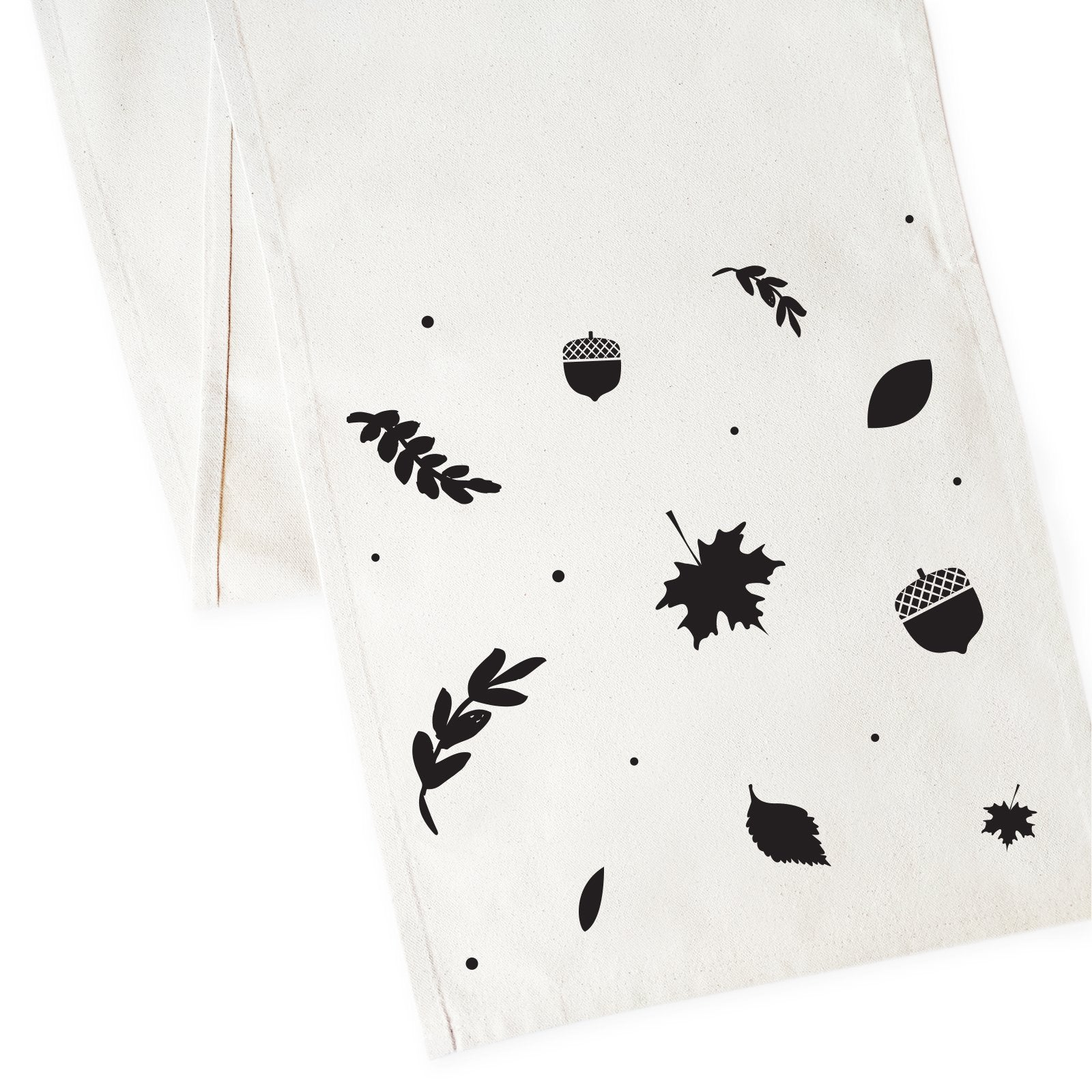 Fall Leaves Cotton Canvas Table Runner