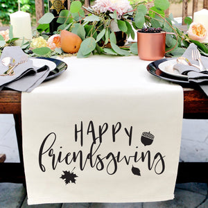 Happy Friendsgiving Canvas Table Runner