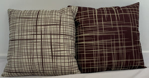 62909 Cushion Covers 45 x 45 cm Hidden Invisible Zip Pack of 2