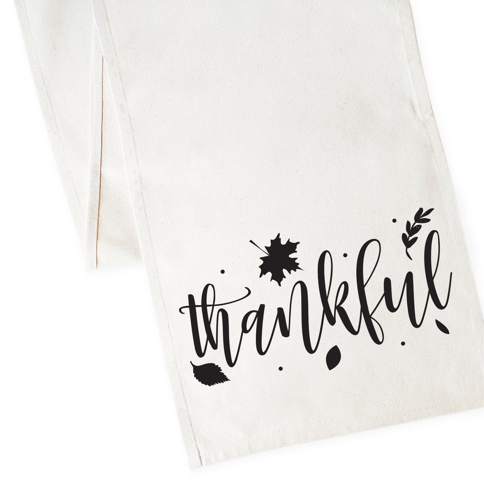 Thankful Cotton Canvas Table Runner