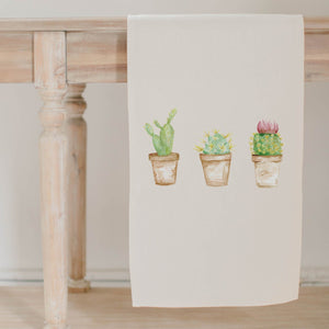 Cactus Watercolor Table Runner