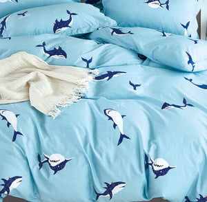 Leigton Ocean Shark  Kids 100% Cotton Comforter Set