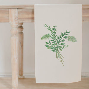 Eucalyptus Bunch Watercolor Table Runner