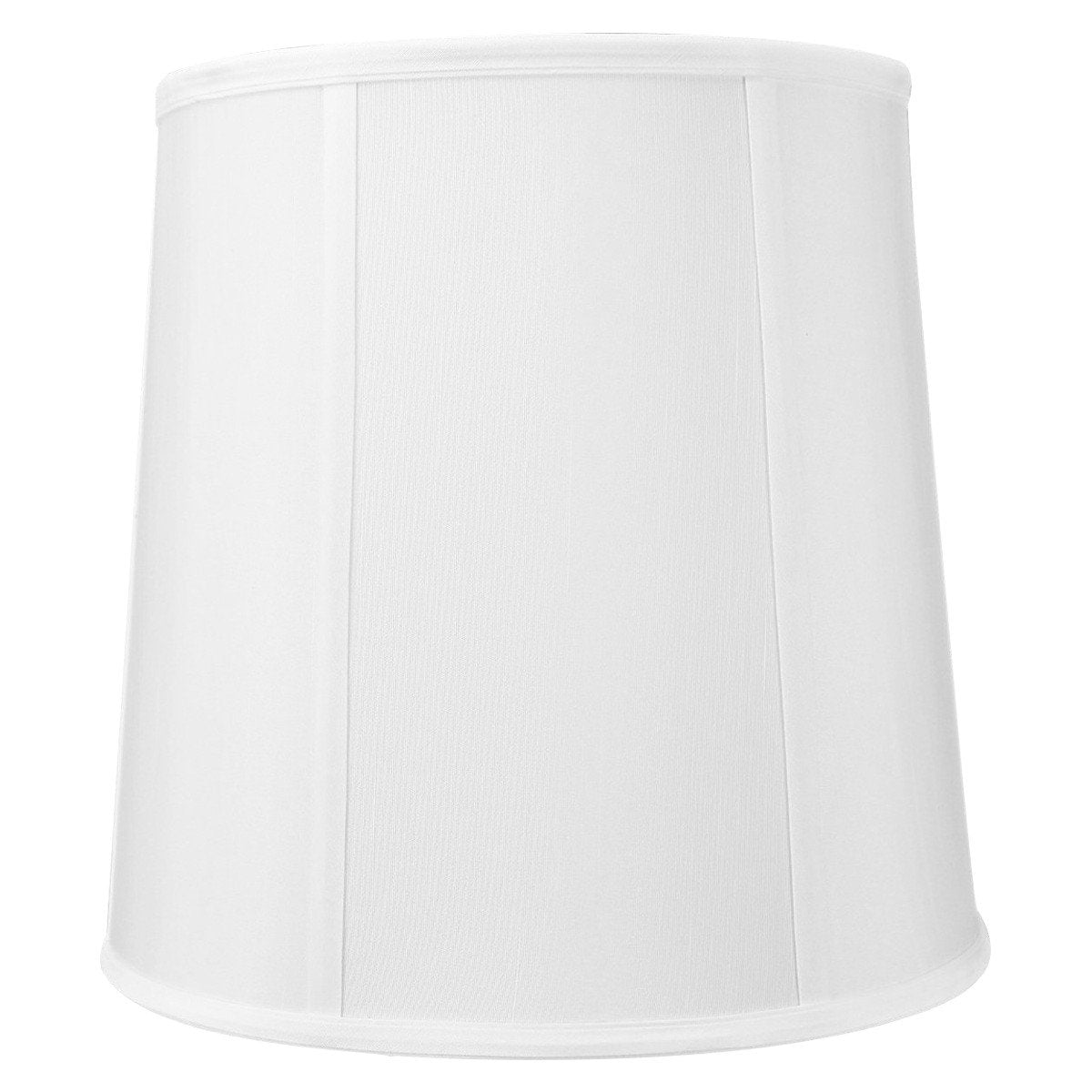 8x10x10 White Linen Fabric Drum Lampshade