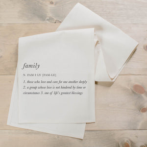 Family Definition Table Runner