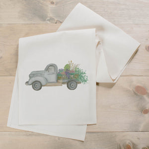 Floral Truck Watercolor Table Runner