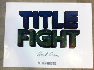 Title Fight - Floral Green Poster