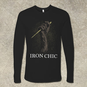 Iron Chic - You Can't Stay Here Long Sleeve Shirt (2017)