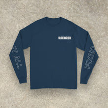 Load image into Gallery viewer, Pærish 'Fixed It All' Navy Blue Long Sleeve