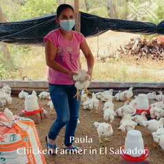 Paula is a chicken farmer in El Salvador who worked with ENLACE to start and then expand her business.