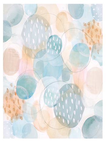 """La Primavera Spring Eggs"" Abstract Card Set"