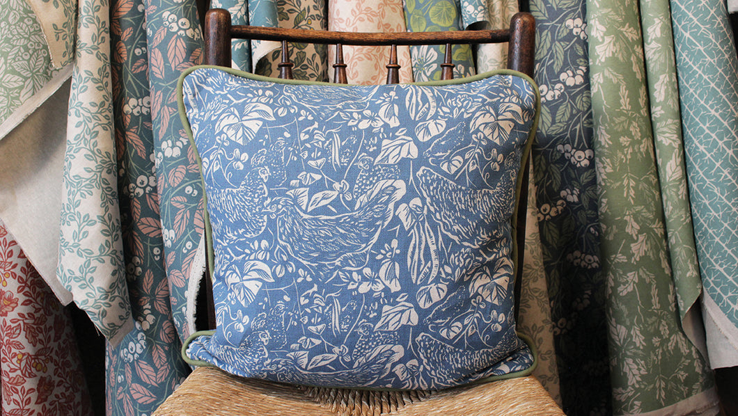 'Half Dozen' Cushion, Midnight, double sided and piped