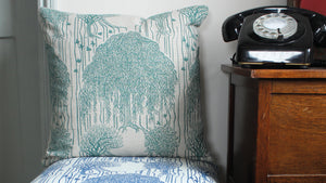 'Tournebury' Cushion, emerald