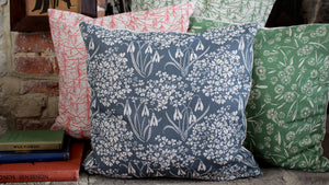 'Romilly' Cushion, slate blue