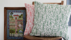 'Sycamore' Cushion, green