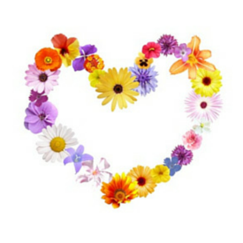 Flower heart. Bohemian chic. Hippie fashion.