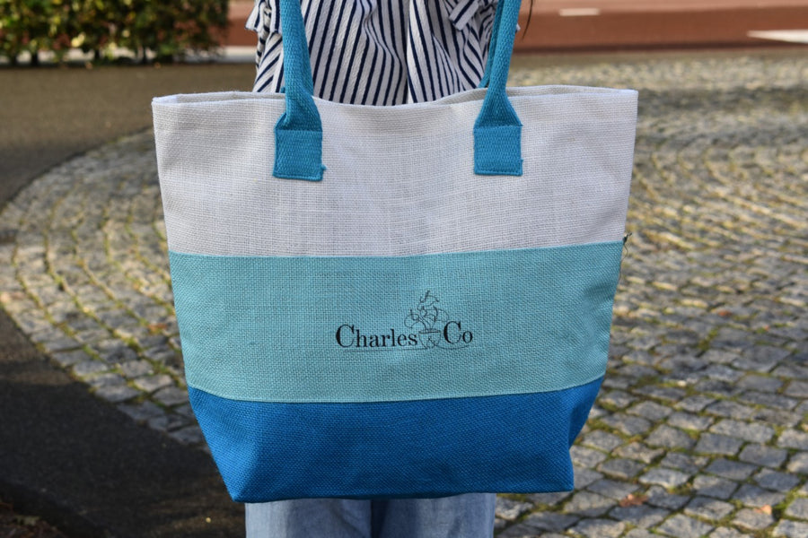 by Charles & Co Colourful Jutte Beach Bag