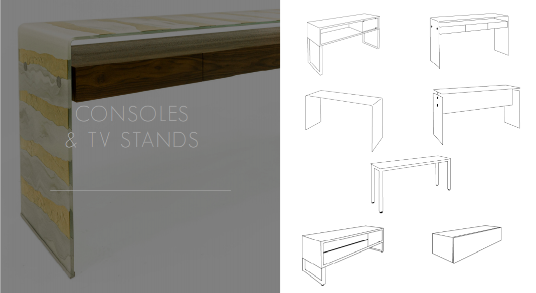 Glassisimo Consoles and TV Stands