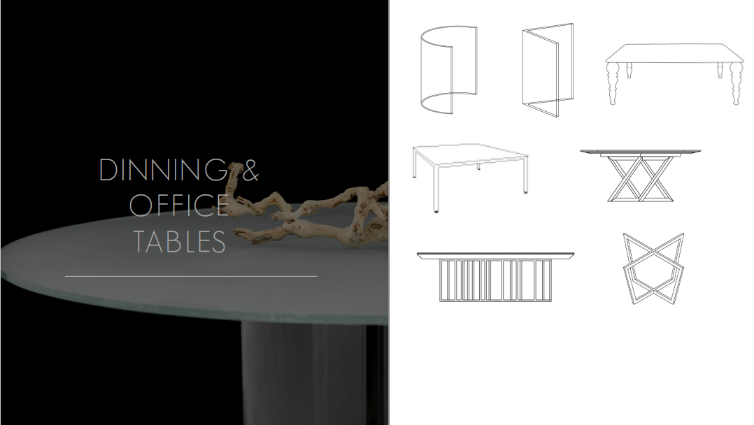 Glassisimo Dining and Office Tables