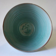 Load image into Gallery viewer, Turquoise bowl from above on a white background