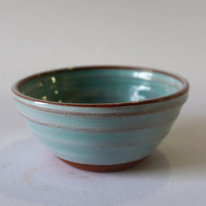 Mini Turquoise bowl on a white background.